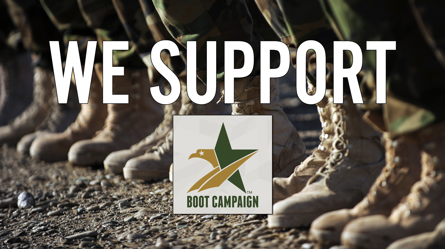 We Support the Boot Campaign